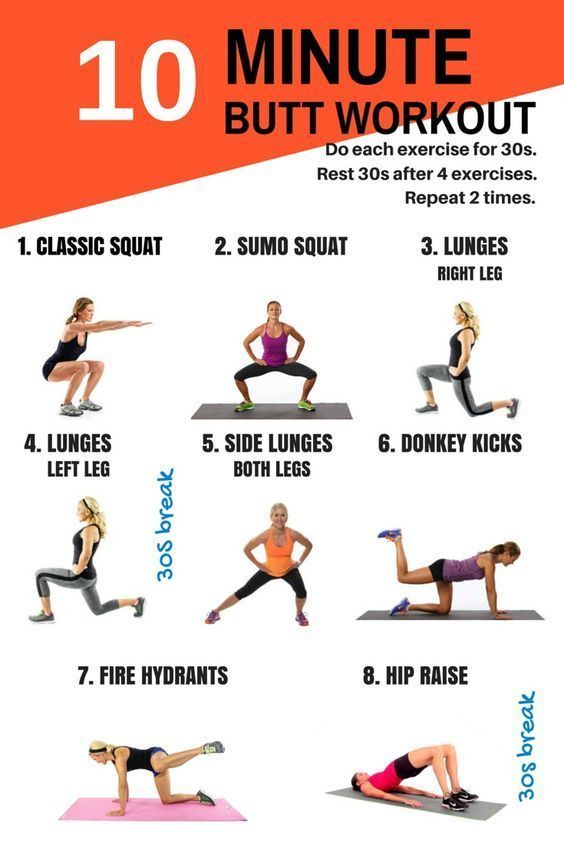 10 minute working to tone your butt
