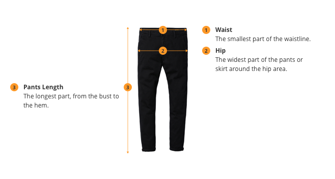 chart showing how to measure leggings fit