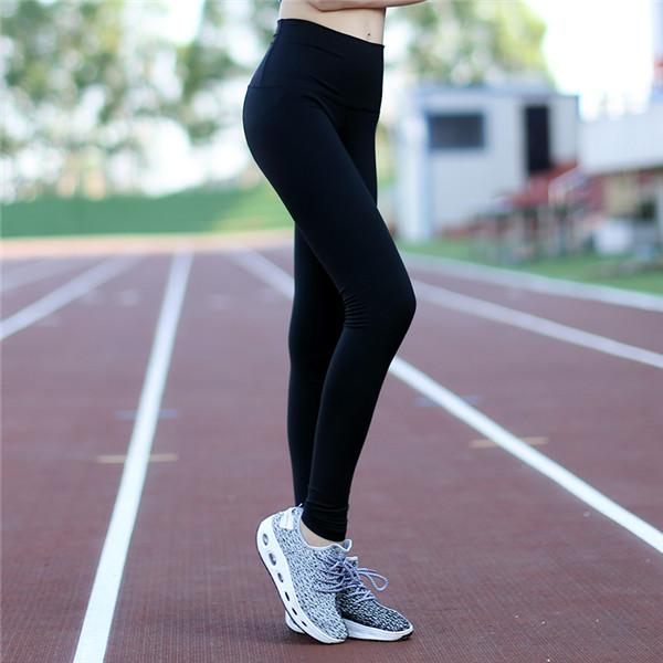 High Elastic Solid Women's Nylon Sports Leggings